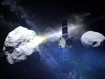 Un proyecto de la NASA golpeará una roca espacial para desviar su trayectoria