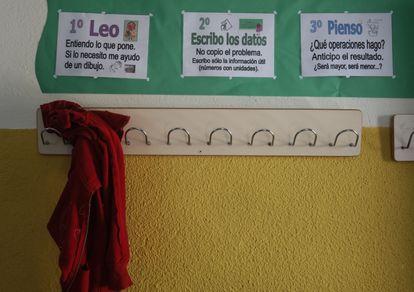 Un grupo mixto del colegio Filósofo Séneca, en el distrito de Horataleza, al norte de Madrid.