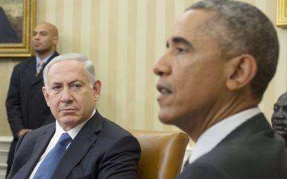 Netanyahu y Obama, este miércoles en la Casa Blanca.