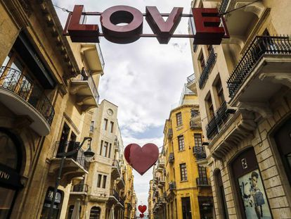 Beirut, capital de Líbano, se prepara para celebrar San Valentín.