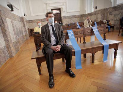 Juan Carlos Quer, en la vista de apelación contra la sentencia que condenó a El Chicle, este martes en A Coruña.