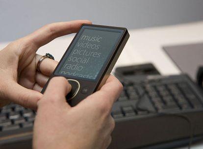 Reproductor digital Zune de Microsoft.