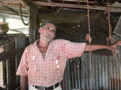 Víctor Manuel Garbanzo vive en la pobreza extrema, según los indicadores de Costa Rica.