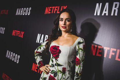 Ana de la Reguera, en la presentación de 'Narcos' en Brasil.