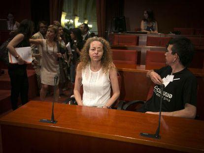 Ester Quintana en la comisión de Interior.