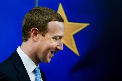 Mark Zuckerberg, fundador de Facebook, durante su visita a la Comisión Europea en febrero de 2020.