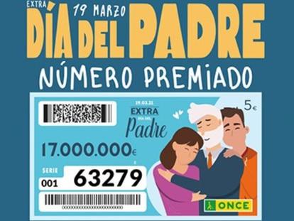 ONCE: Sorteo extra del Día del Padre 2021 | Consulta los números premiados