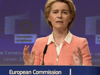 La presidenta electa de la Comisión Europea, Ursula von der Leyen, el 10 de septiembre.