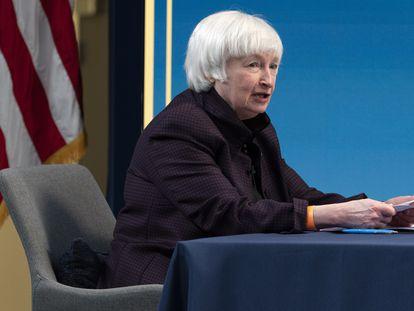 La secretaria del Tesoro de EE UU, Janet Yellen, en febrero pasado.