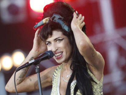 Amy Winehouse en su actuación en el festival Rock in Río de Madrid en 2008.
