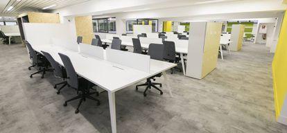 Zona del edificio destinada al coworking. Se trata de una de las apuestas más jóvenes: el espacio abrió sus puertas el pasado septiembre.