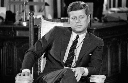 El presidente estadounidense John F. Kennedy, en la Casa Blanca en diciembre de 1962.
