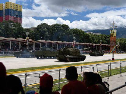 Un desfile militar en Venezuela.