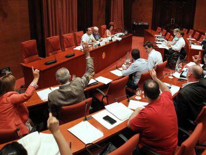 Las caóticas votaciones de la comisión.