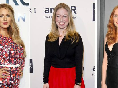 Blake Lively, Chelsea Clinton y Jessica Chastain.