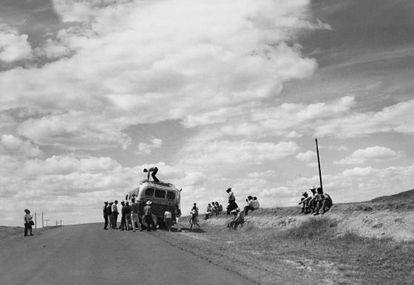 Fotografía del primer viaje de Plossu, 1965-66.