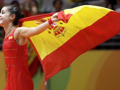 Carolina Marín, medalla de oro de Río en bádminton.
