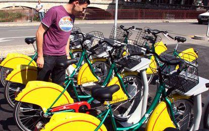 Servicio público de bicicletas de Girona, la Girocleta.