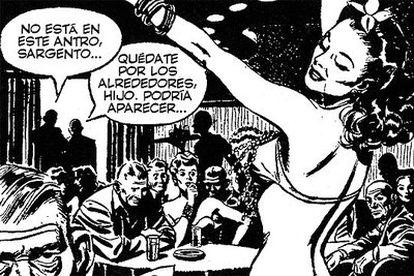 Viñeta de una tira diaria de 'Rick Kirby' de Alex Raymond.