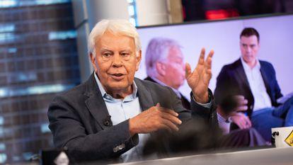 El expresidente del Gobierno Felipe González la noche de este miércoles en 'El Hormiguero', de Antena 3.