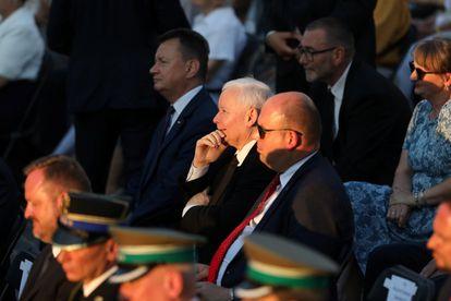 Jaroslaw Kaczynski, líder del partido Ley y Justicia (PiS), asiste a las conmemoraciones del 77º aniversario del levantamiento de Varsovia en la capital polaca, el pasado 31 de julio.