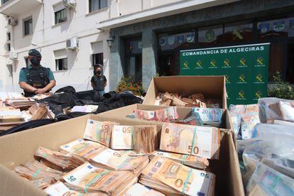 Parte de los millones de euros incautados en la operación Jumita.