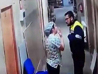 Captura del momento de la agresión.