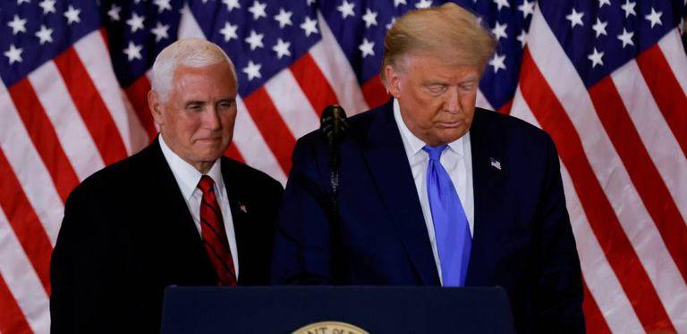 El presidente de Estados Unidos, Donald Trump, y el vicepresidente, Mike Pence.