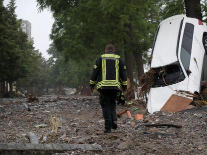 Efectos de la reciente riada en Bad Neuenahr-Ahrweiler (Alemania).