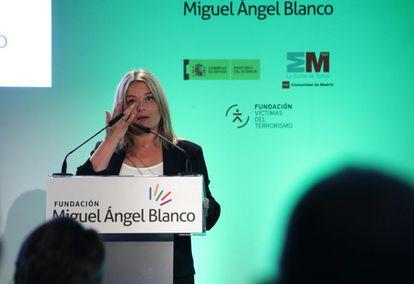 La hermana de Miguel Ángel Blanco, Marimar Blanco, durante un acto en septiembre de 2019.