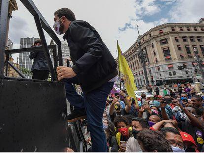 Guilherme Boulos, candidato a la alcaldía de São Paulo.