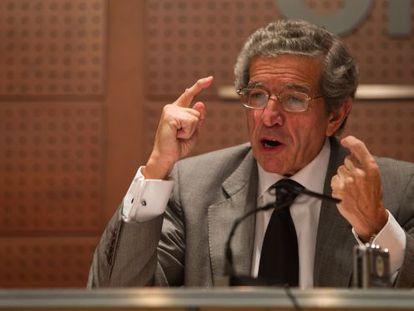 Braulio Medel, presidente de Unicaja, en una presentación en 2010.