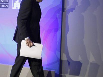 Rajoy, tras la comparecencia que ha dado al finalizar la cumbre de la OTAN
