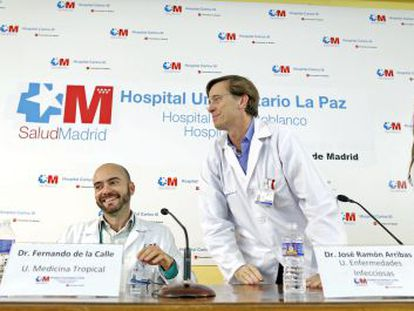 Rueda de prensa en el Hospital Carlos III para anunciar la curación de la contagiada de ébola Teresa Romero.
