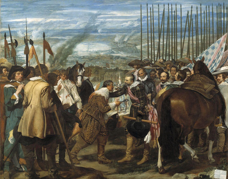 <i>La rendición de Breda</i>, de Velázquez, reproduce un episodio clave en la llamada guerra de los Ochenta Años.