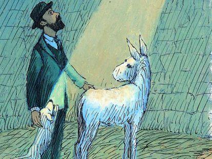 Ilustración de Thomas Docherty para 'Platero y yo'.
