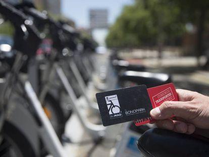 El servicio de BiciMad se podrá utilizar con las tarjetas sin contacto del Consorcio Regional de Transportes de Madrid.