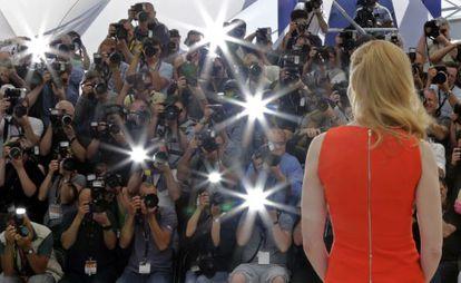 Nicole Kidman en la presentación de 'The paperboy'.