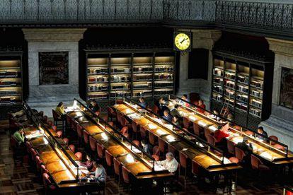 Sala de lectura de la Biblioteca Nacional de España.