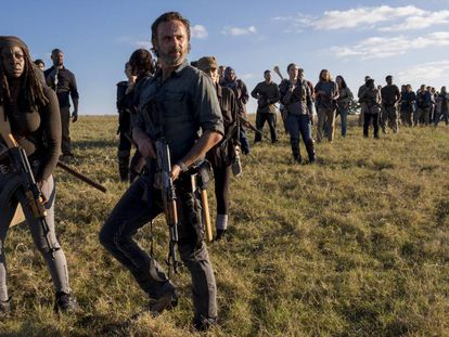Fotograma del último episodio de la octava temporada de 'The Walking Dead'.