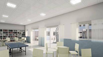 Imagen del diseño del futuro CIE de Algeciras.