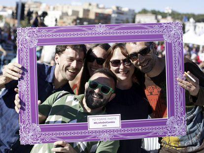 Mitin de cierre de campaña de Podemos en Madrid, en 2015.