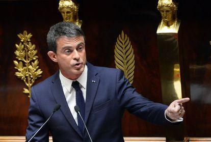Manuel Valls en la Asamblea Nacional en París, el 18 de junio.