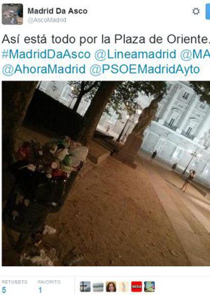 Uno de los tuits de la cuenta @ascomadrid.