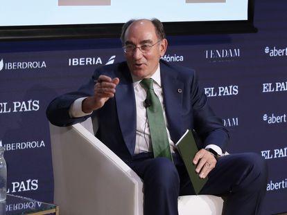 Ignacio Sánchez Galán, presidente de Iberdrola, este jueves en el Foro Tendencias 2022, organizado por EL PAÍS.