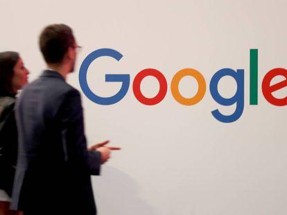 Logotipo de Google durante la feria Viva Tech en París la pasada primavera