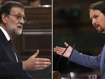 Rajoy e Iglesias, este martes en el Congreso.