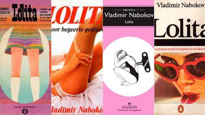Covers of the novel 'Lolita', by Vladimir Nabokov.