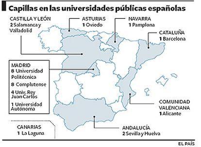 Madrid alberga más del doble de oratorios que en los campus del resto del país.