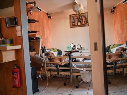 Alain Cocq, el 12 de agosto en su habitación en Dijon (Francia).